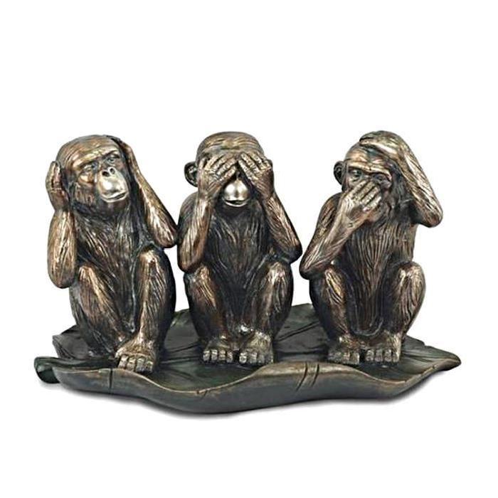 singes-x3-statuette-neuve-en-resine-rien-dit-rien